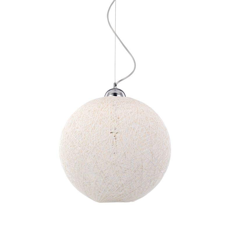 IdealLux-096162 - Basket - White Fireproof Twine Single Hanging Pendant -Ø 40