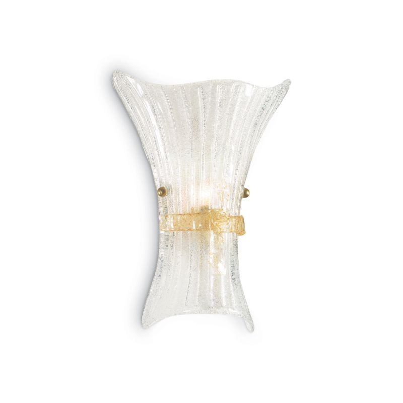 IdealLux-014630 - Fiocco - Big Clear Glass with Decoration Wall Lamp