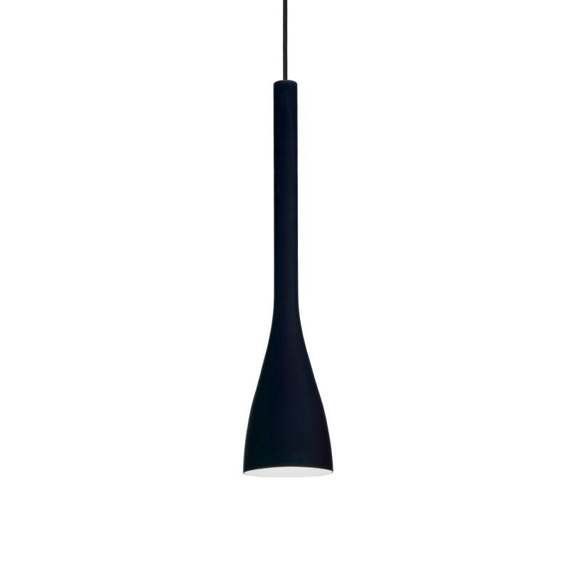 IdealLux-035710 - Flut - Small Black Glass Single Hanging Pendant
