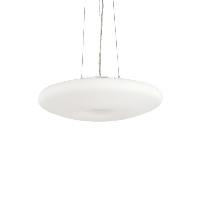 IdealLux-019734 - Glory - White Round Glass 3 Light Hanging Pendant