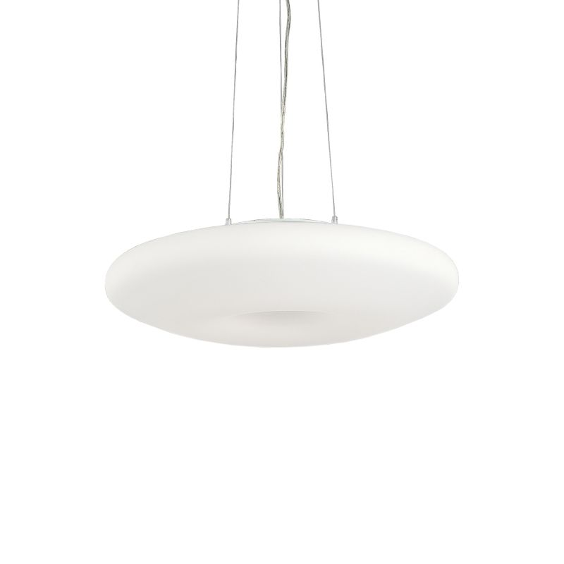 IdealLux-019741 - Glory - White Round Glass 5 Light Hanging Pendant