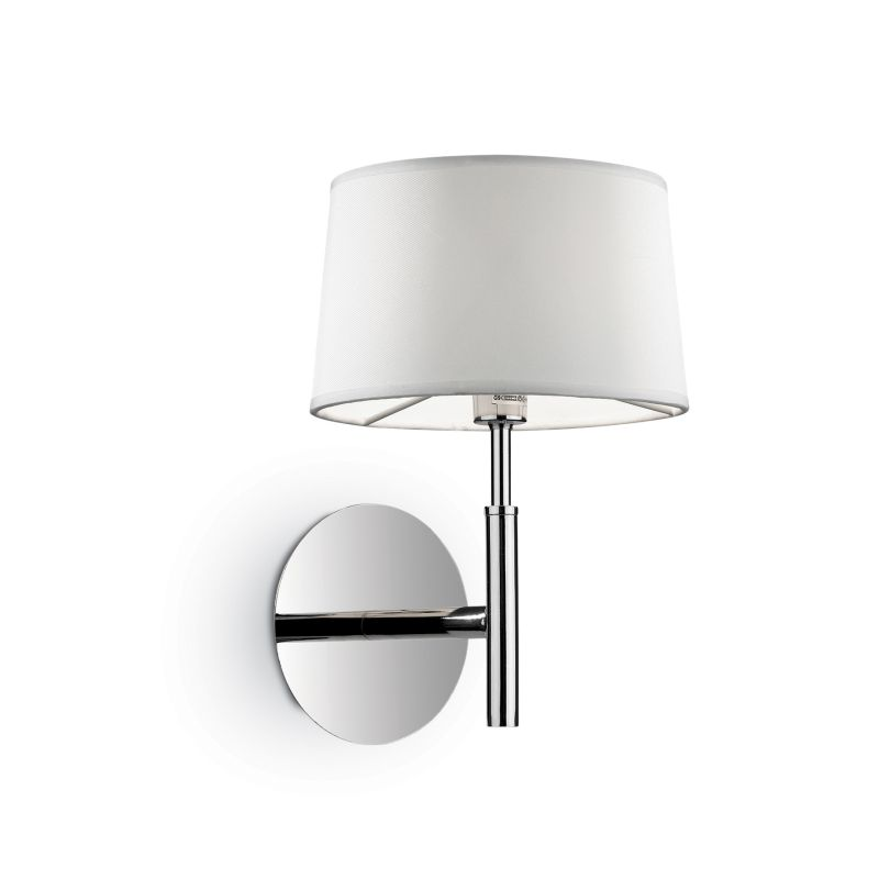 IdealLux-075471 - Hilton - White Fabric Single Wall Lamp