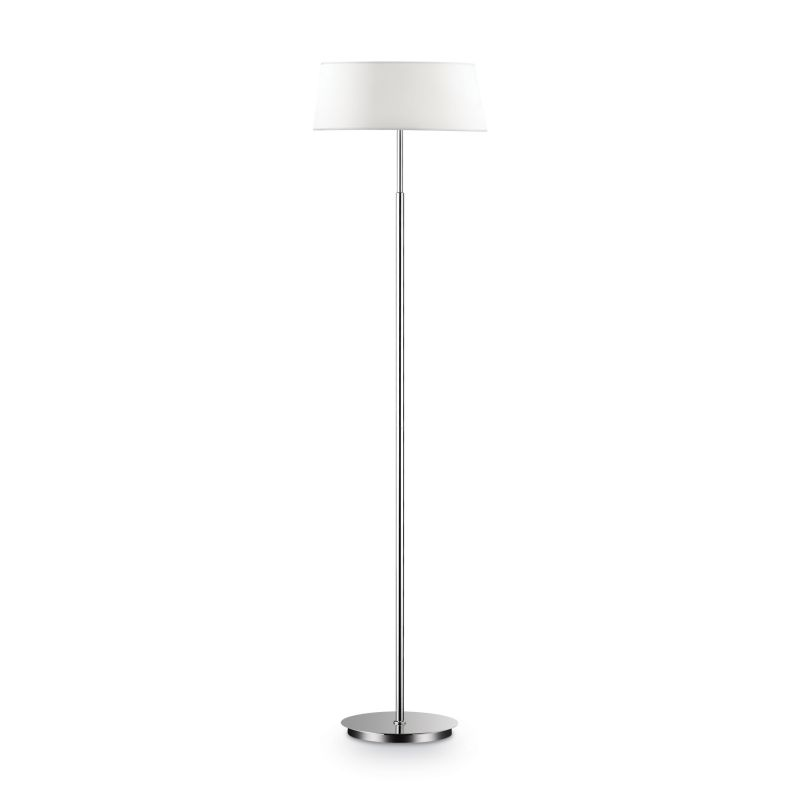 IdealLux-075488 - Hilton - White Fabric 2 Light Floor Lamp