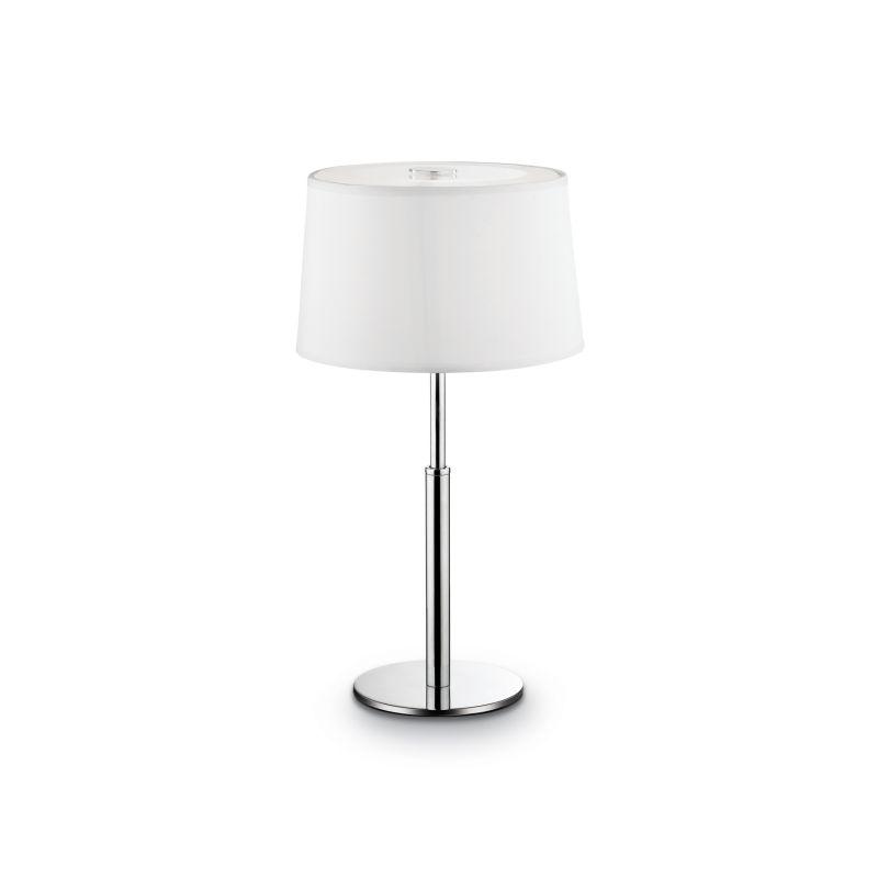 IdealLux-075525 - Hilton - White Fabric Single Table Lamp
