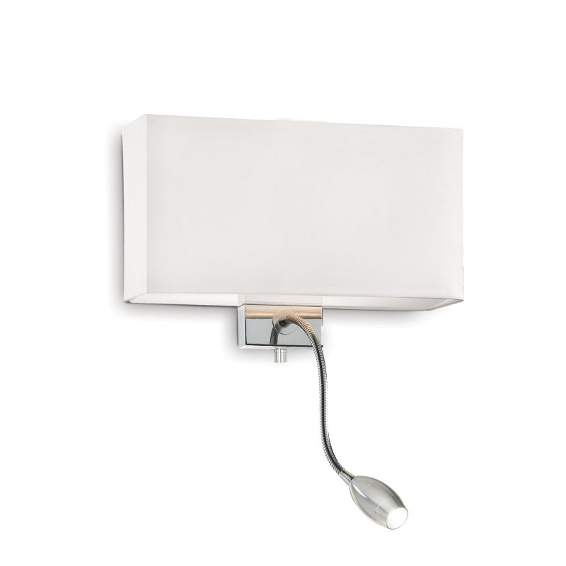 IdealLux-035949 - Hotel - White Fabric Mother & Child LED Wall Lamp