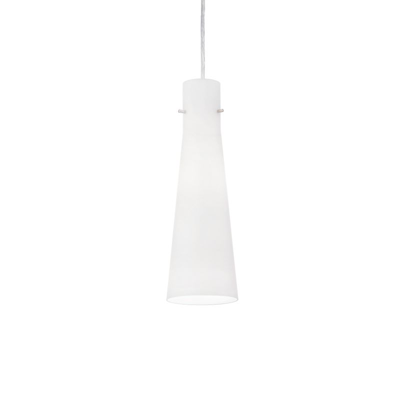 IdealLux-053448 - Kuky - Frosted Cone Glass Single Hanging Pendant