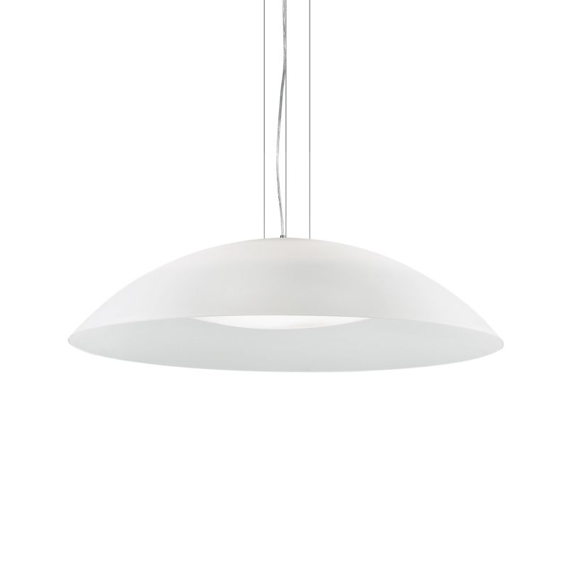 IdealLux-052786 - Lena - Big White Double Frosted Glass Diffuser 3 Light Pendant