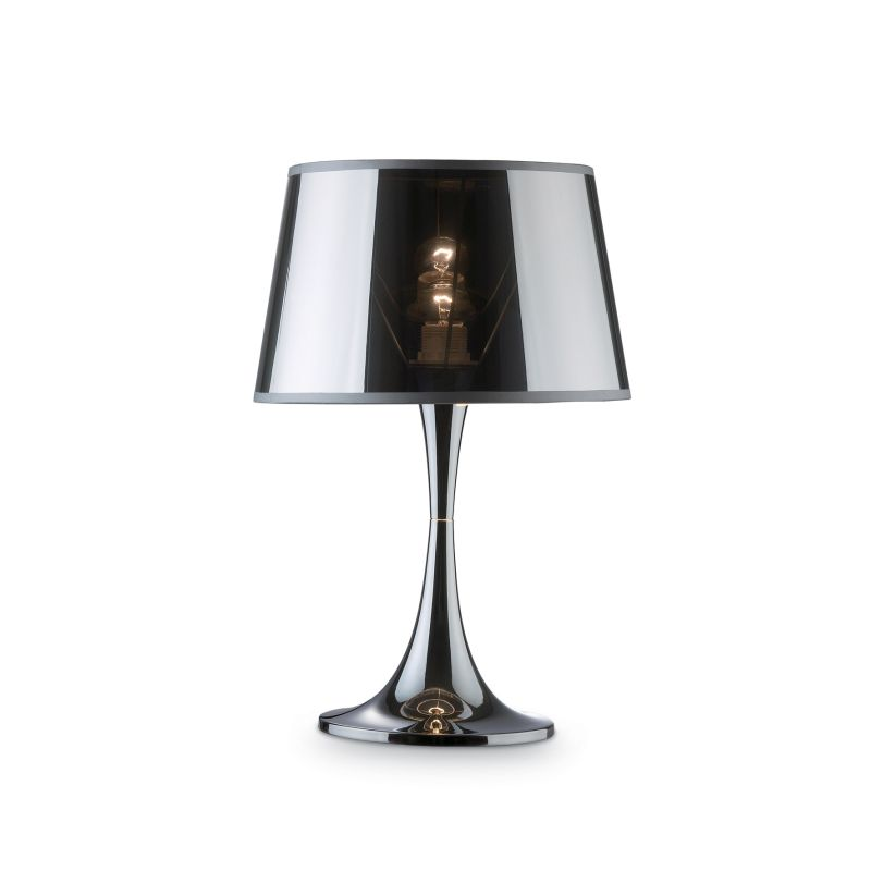 IdealLux-032375 - London Cromo - Chromed and Transparent Big Table Lamp