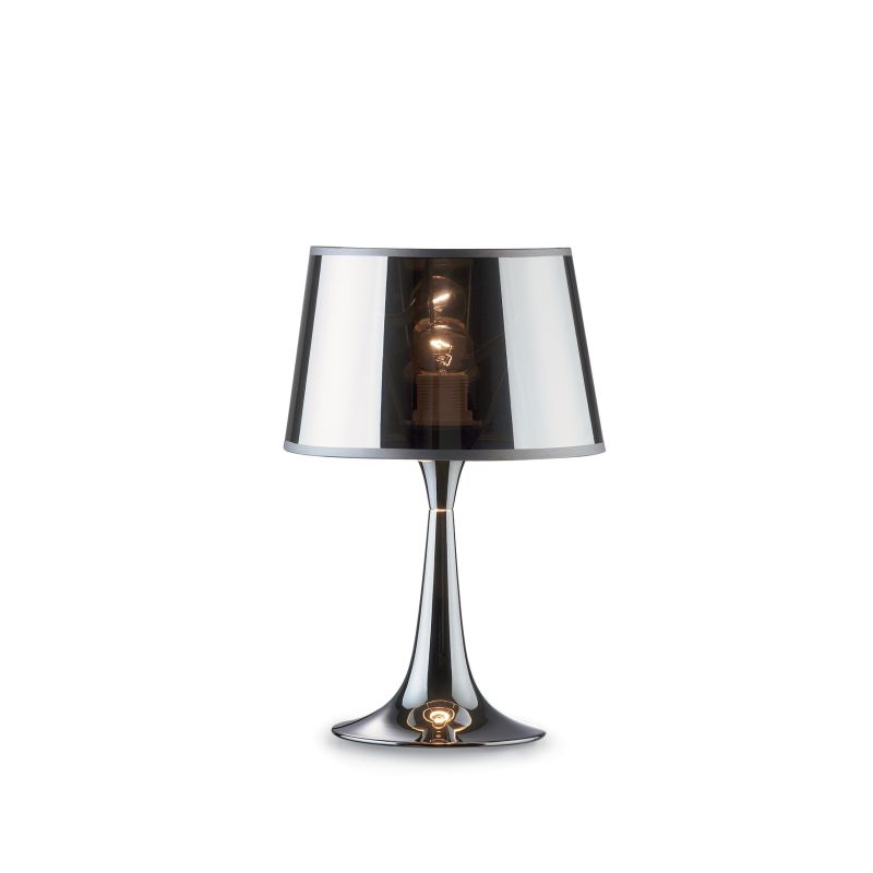 IdealLux-032368 - London Cromo - Chromed and Transparent Small Table Lamp