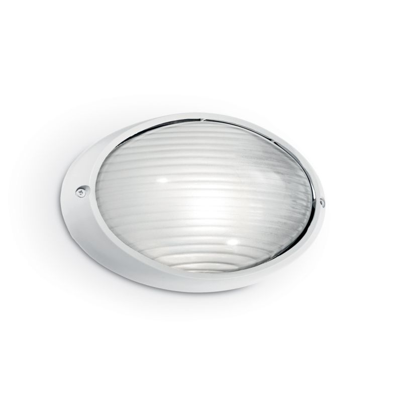 IdealLux-066882 - Mike - Outdoor White Big Oval Wall Lamp