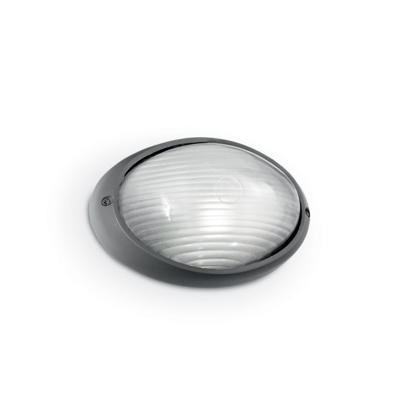 IdealLux-061788 - Mike - Outdoor Anthracite Small Oval Wall Lamp