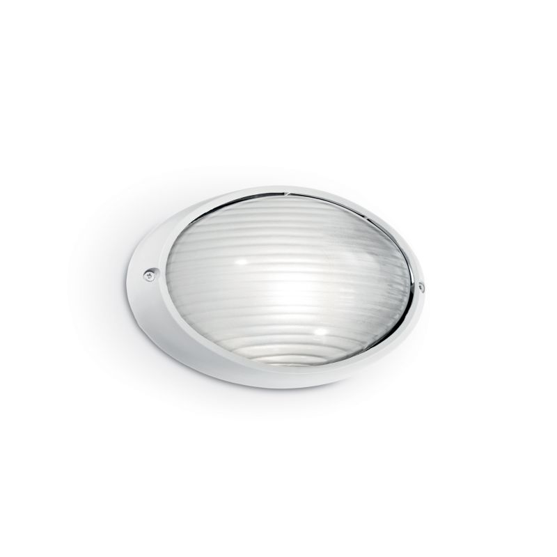 IdealLux-066899 - Mike - Outdoor White Small Oval Wall Lamp