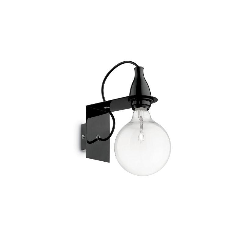IdealLux-045214 - Minimal - Black Metal Single Wall Lamp