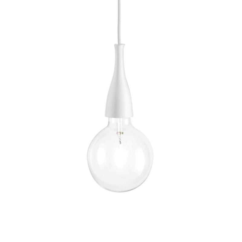 IdealLux-009360 - Minimal - White Metal Single Hanging Pendant