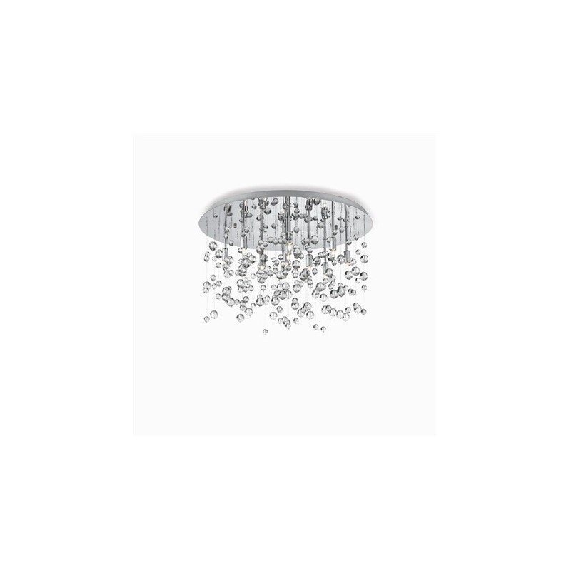 IdealLux-022222 - Neve - Crystal with Chrome 8 Light Ceiling Lamp