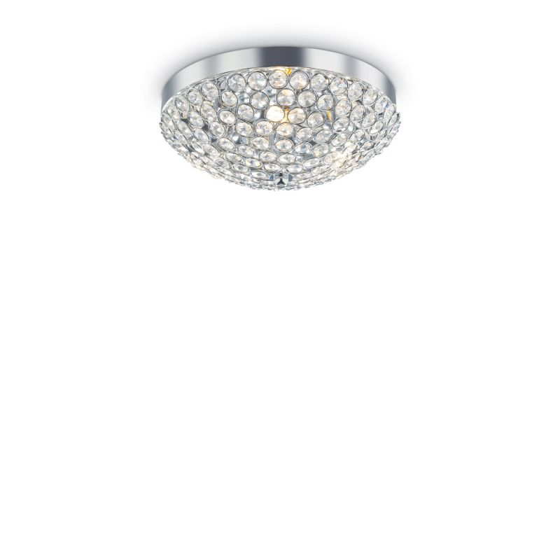 IdealLux-059136 - Orion - Crystal with Chrome 3 Light Ceiling Lamp