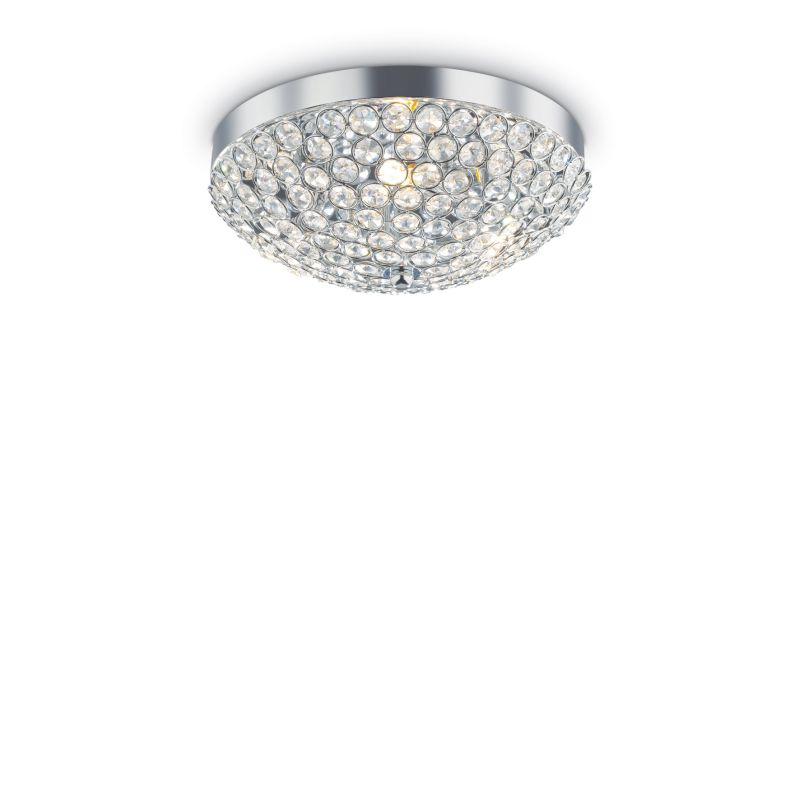 IdealLux-059143 - Orion - Crystal with Chrome 5 Light Ceiling Lamp