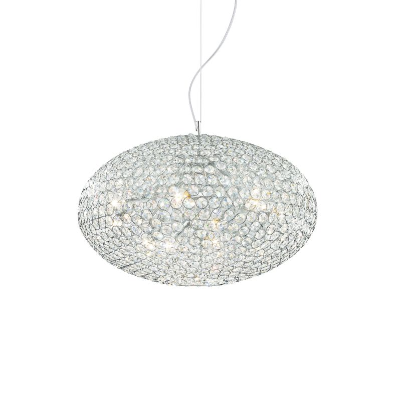 IdealLux-059181 - Orion - Crystal with Chrome 6 Light Hanging Pendant