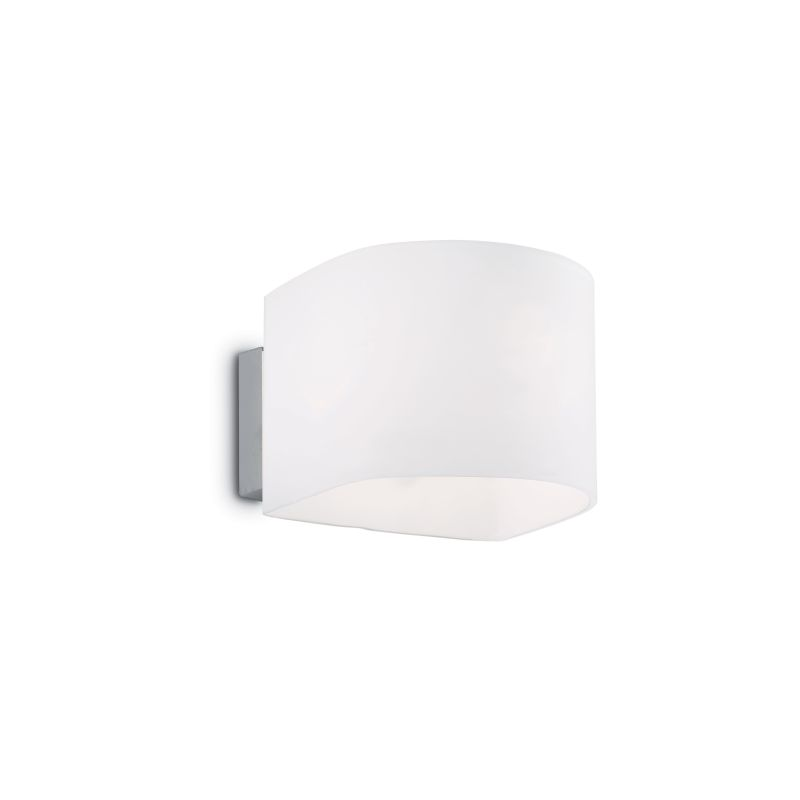 IdealLux-035185 - Puzzle - White Glass Up & Down Wall Lamp
