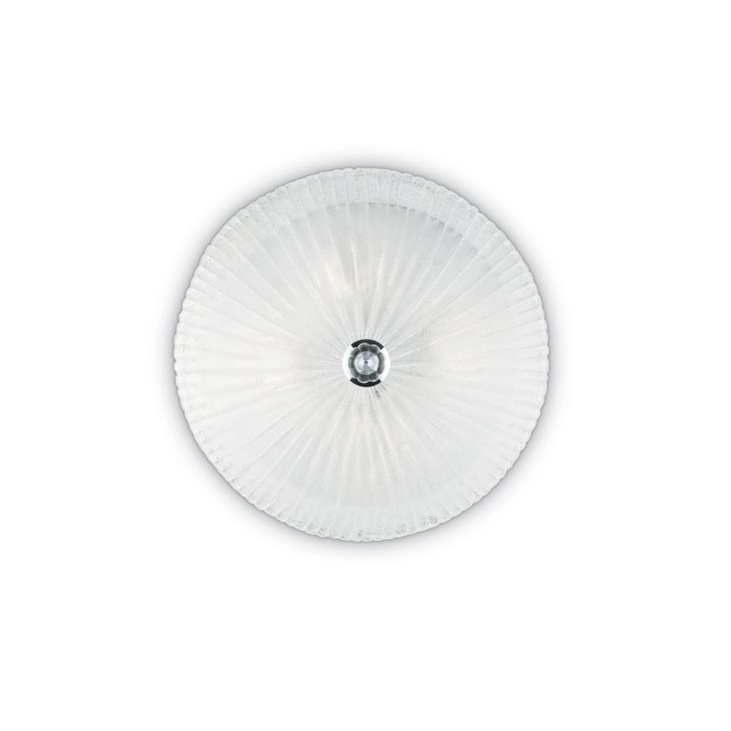 IdealLux-008608 - Shell - Decorative Glass with Chrome 3 Light Ceiling Lamp