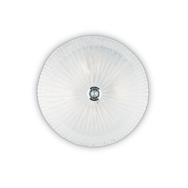 IdealLux-008615 - Shell - Decorative Glass with Chrome 4 Light Ceiling Lamp