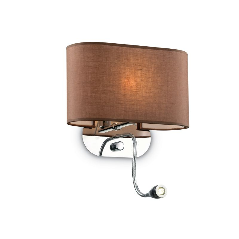 IdealLux-074917 - Sheraton - Brown Fabric Mother & Child LED Wall Lamp