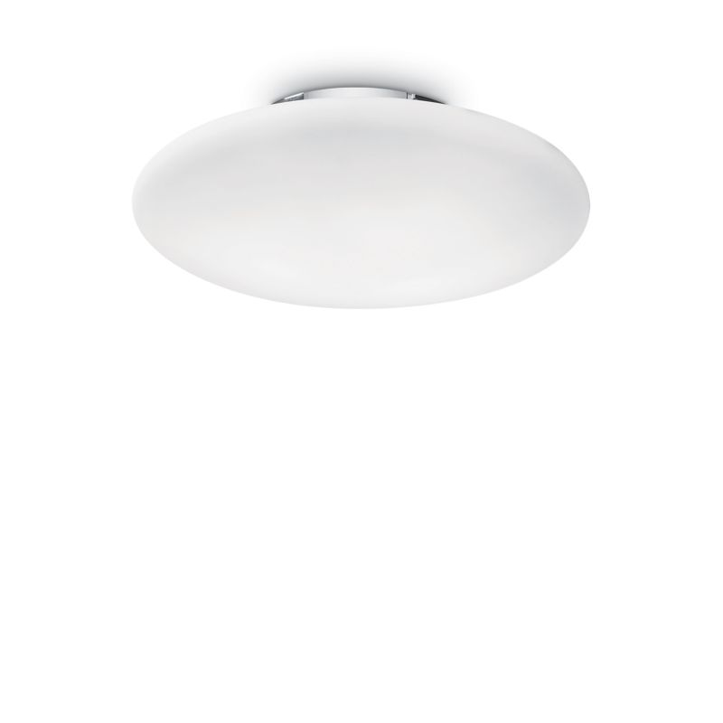 IdealLux-032023 - Smarties bianco - Round Frosted Glass 3 Light Ceiling Lamp ∅ 60
