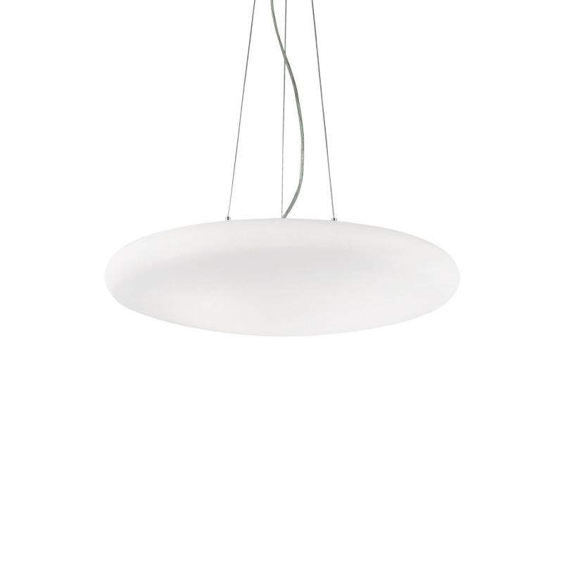 IdealLux-032009 - Smarties bianco - Round Frosted Glass 3 Light Pendant ∅ 50