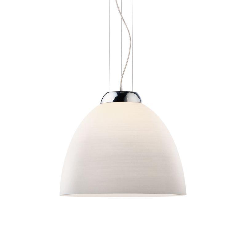 IdealLux-001814 - Tolomeo - Decorated White Glass Single Hanging Pendant