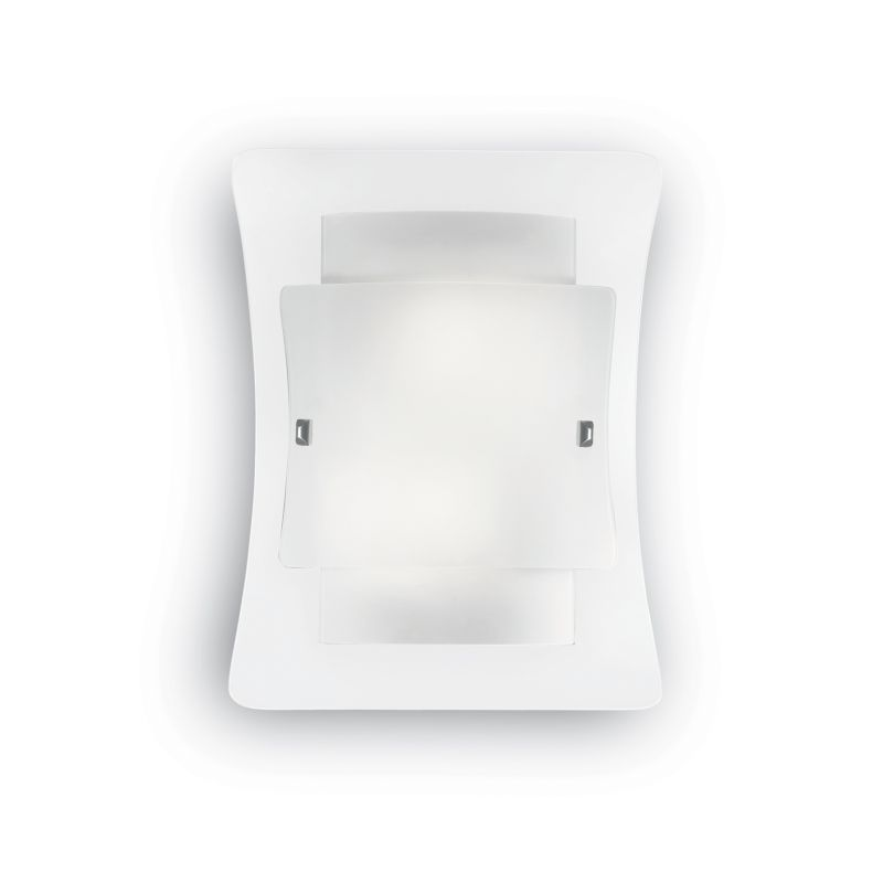 IdealLux-026480 - Triplo - Frosted and Transparent Glass 2 Light Wall Lamp