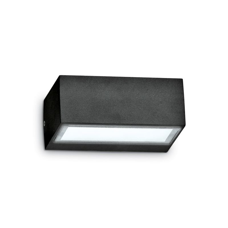 IdealLux-115375 - Twin - Outdoor Black Wall Lamp