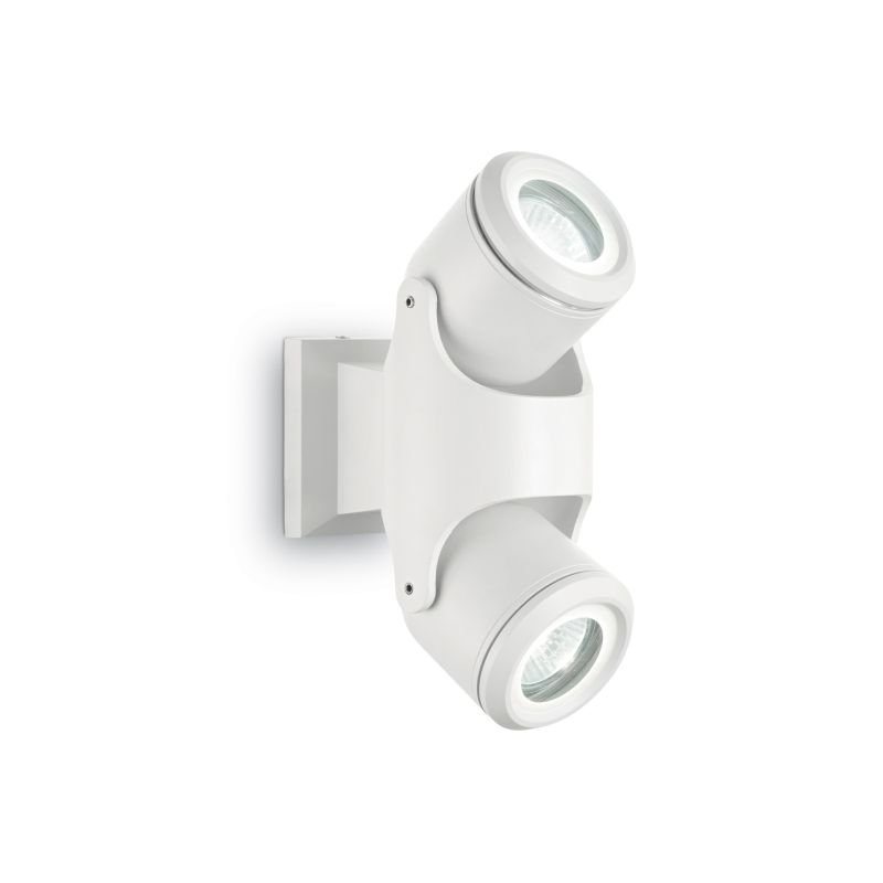 IdealLux-129495 - Xeno - Outdoor White 2 Light Wall Lamp