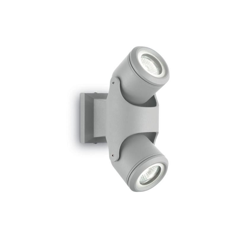IdealLux-129518 - Xeno - Outdoor Grey 2 Light Wall Lamp