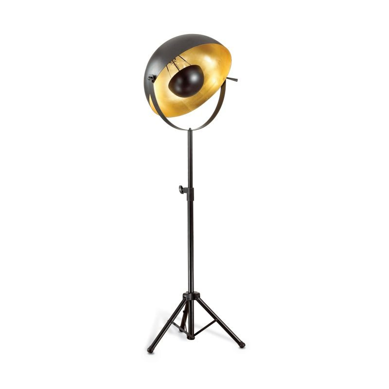 IdealLux-132778 - Stage - Adjustable Black and Gold Metal Floor Lamp