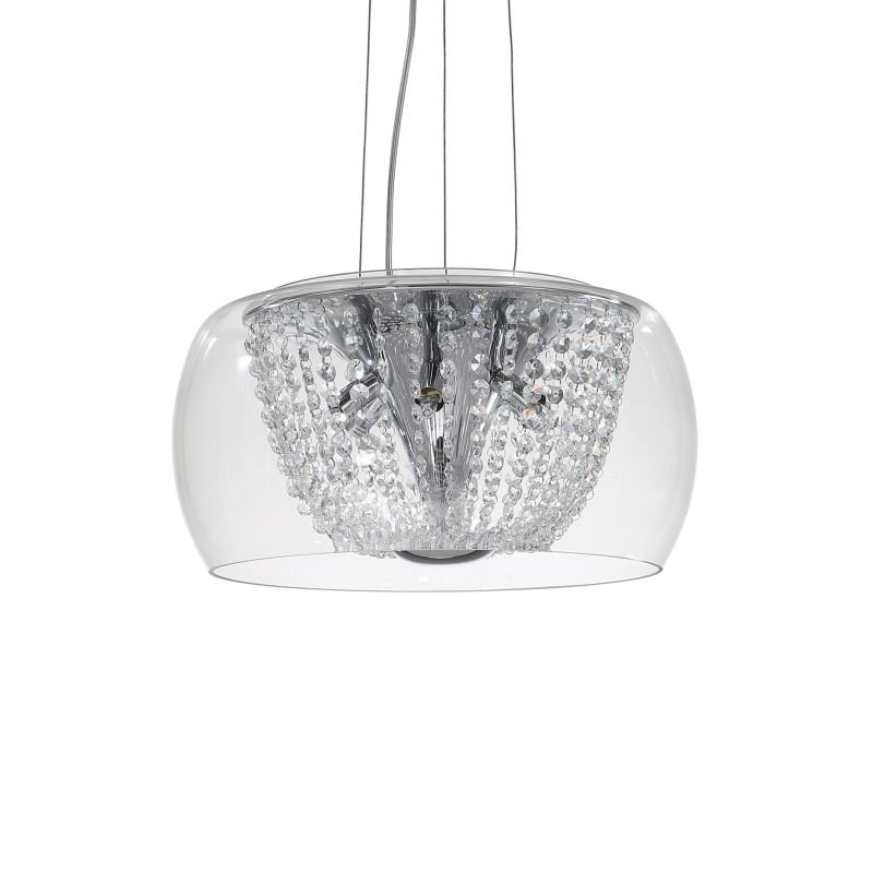 IdealLux-133874 - Audi-61 - Crystal with Clear Glass 6 Light Hanging Pendant