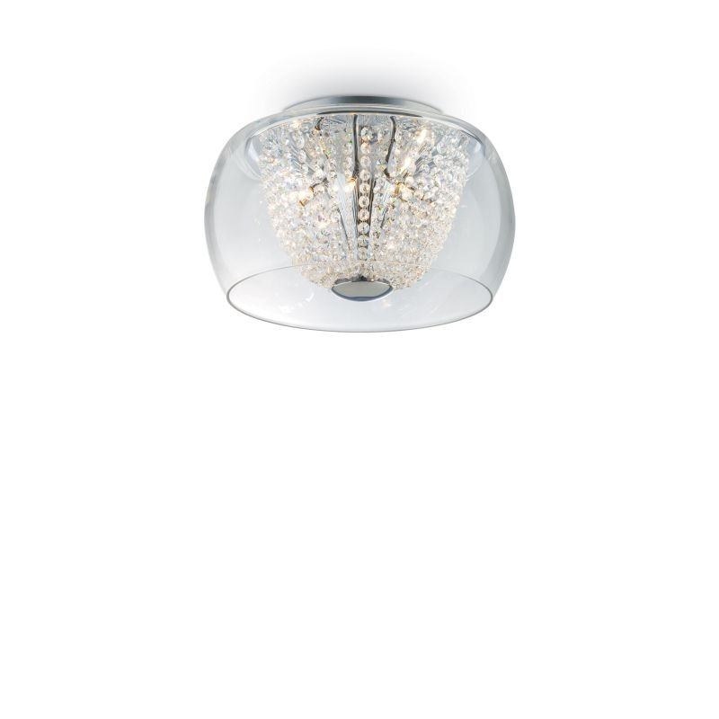 IdealLux-133898 - Audi-61 - Crystal with Clear Glass 6 Light Ceiling Lamp