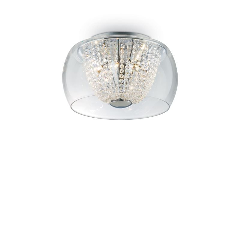 IdealLux-133904 - Audi-61 - Crystal with Clear Glass 8 Light Ceiling Lamp