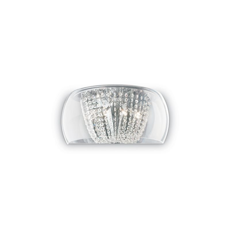IdealLux-133911 - Audi-61 - Crystal with Clear Glass 4 Light Wall Lamp