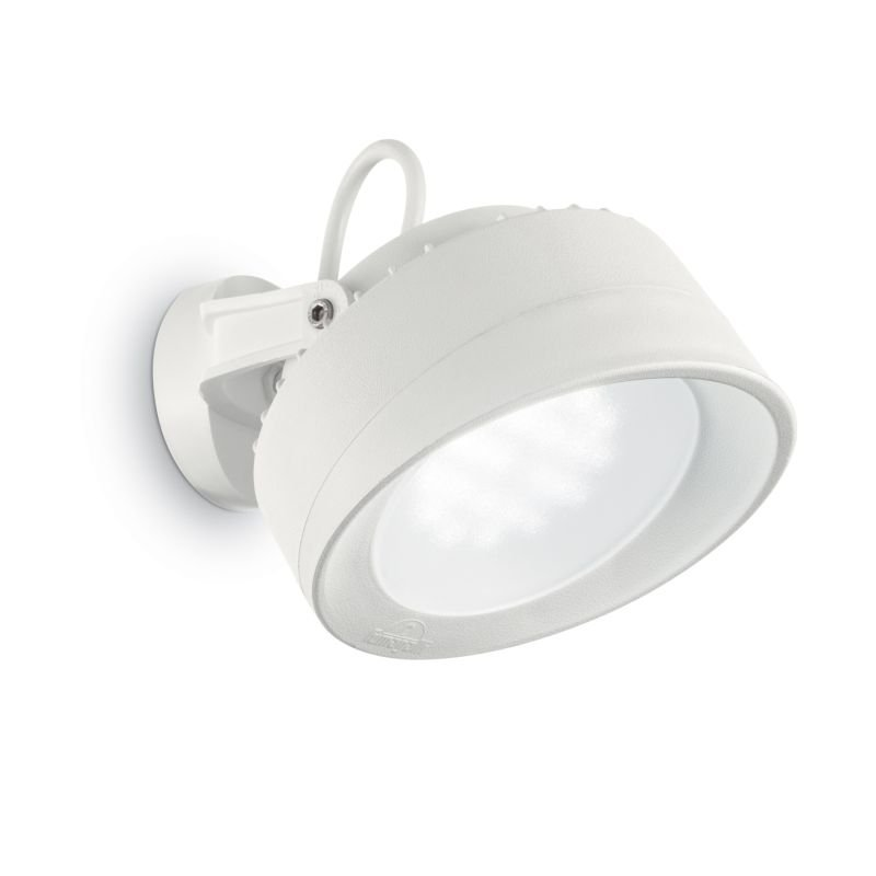 IdealLux-145303 - Tommy - Outdoor White Round Wall Lamp