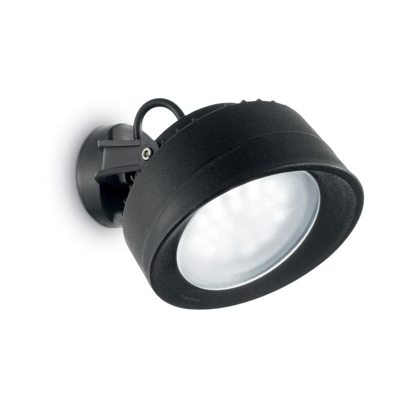 IdealLux-145341 - Tommy - Outdoor Black Round Wall Lamp