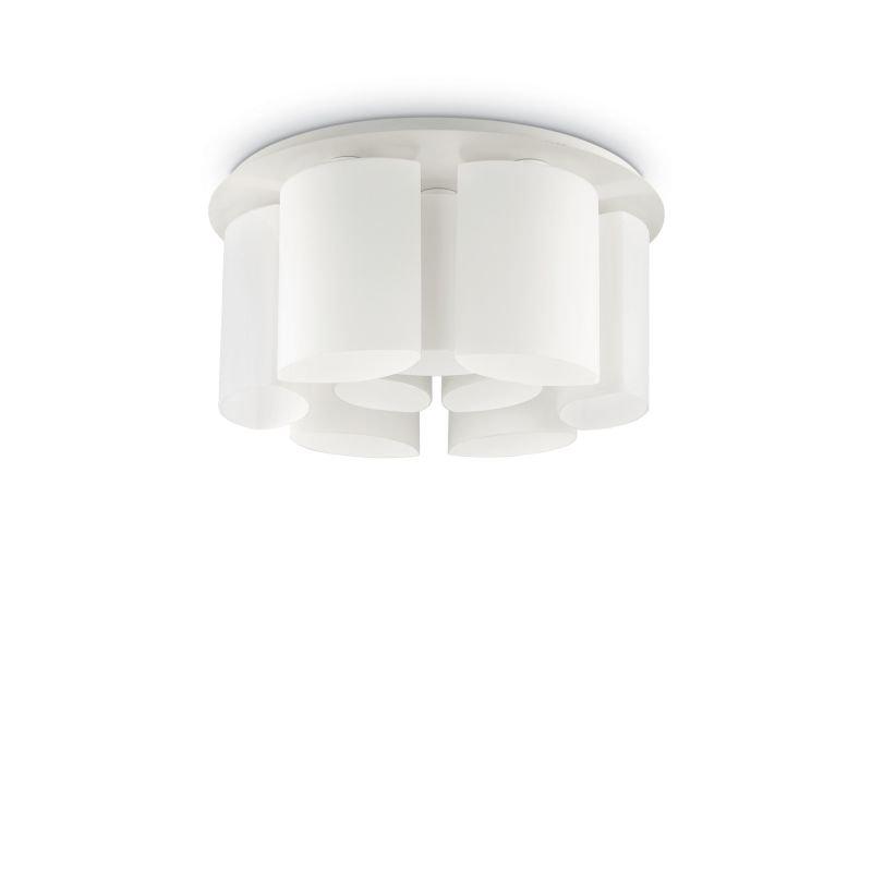 IdealLux-159645 - Almond - White Decorative Glass 9 Light Ceiling Lamp