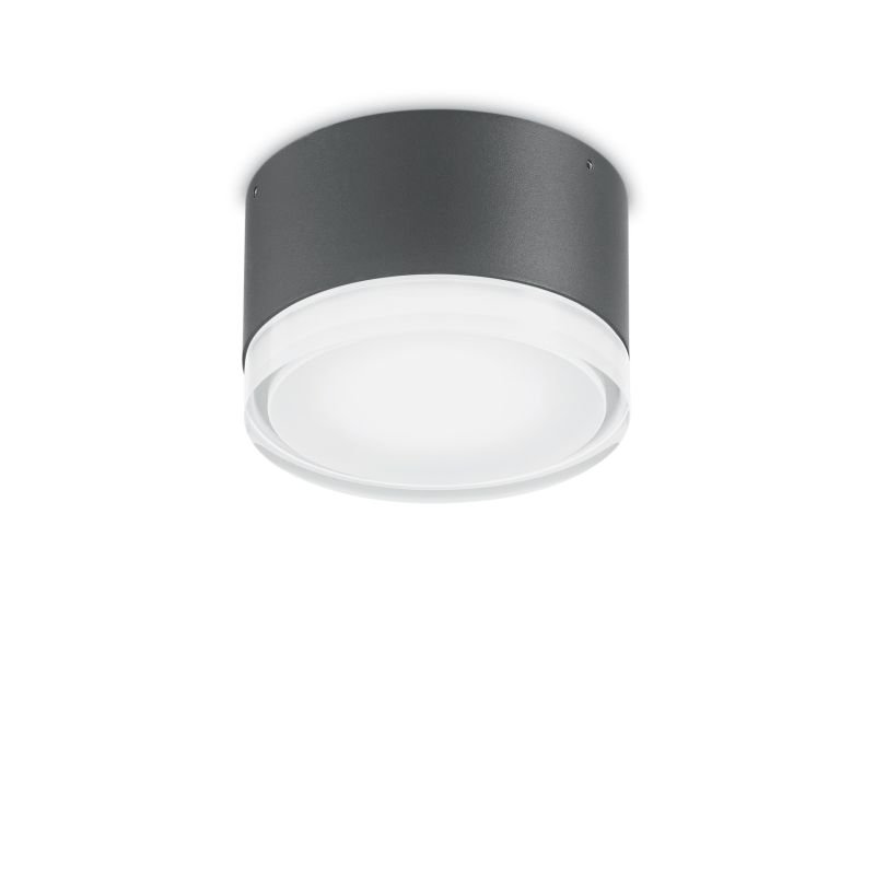 IdealLux-168111 - Urano - Outdoor Anthracite Small Ceiling Lamp