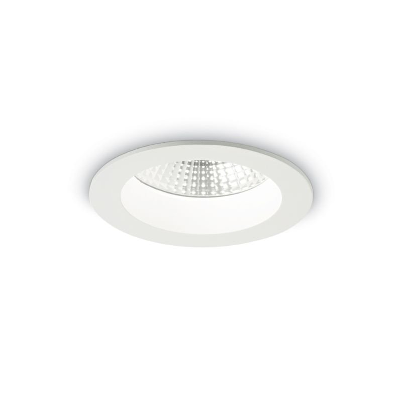 IdealLux-193359 - Basic - LED Round White Recessed Ceiling Light 1050LM