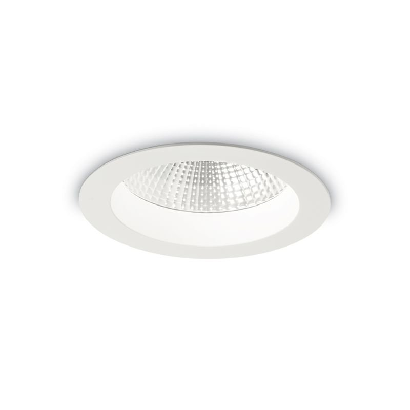 IdealLux-193373 - Basic - LED Round White Recessed Ceiling Light 1700LM