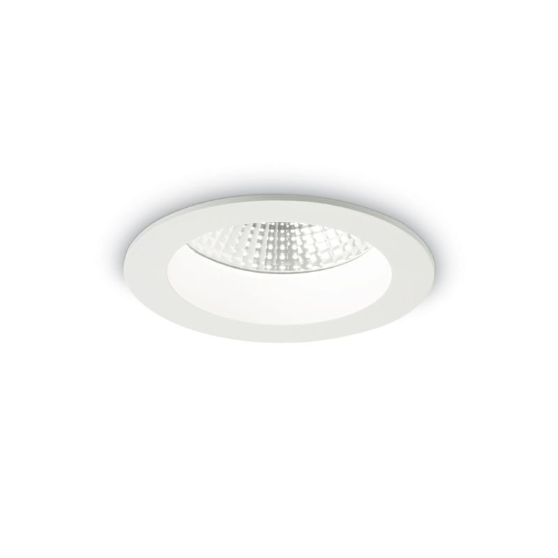 IdealLux-193458 - Basic - LED Round White Recessed Ceiling Light 1000LM