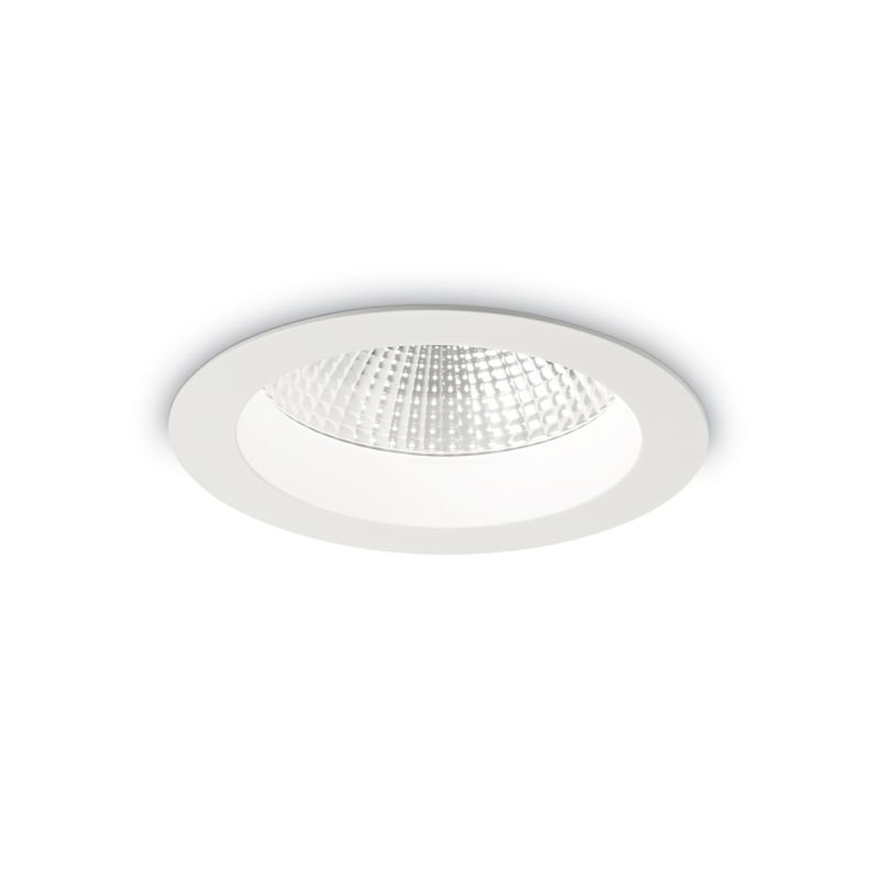 IdealLux-193465 - Basic - LED Round White Recessed Ceiling Light 1450LM