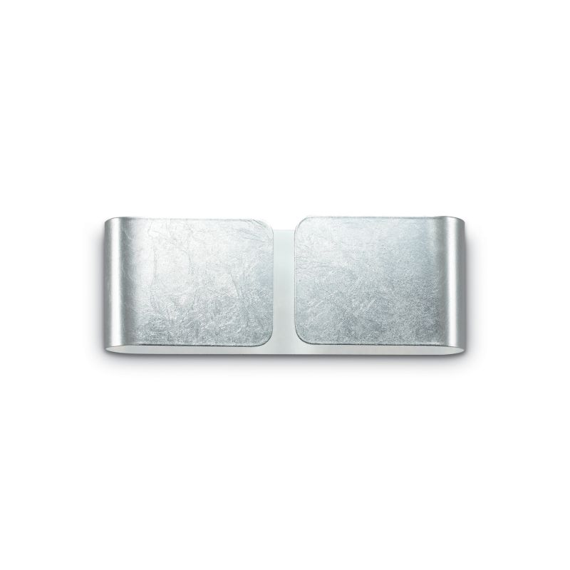 IdealLux-091136 - Clip - Small Silver Metal Up & Down Wall Lamp