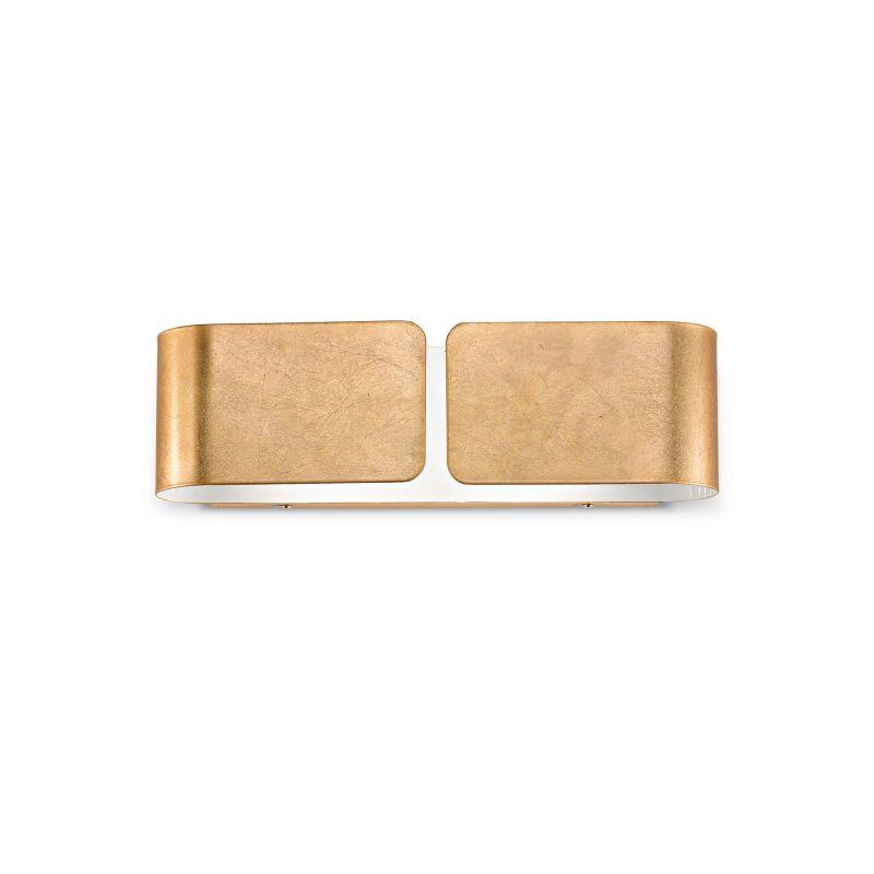 IdealLux-088266 - Clip - Big Gold Metal Up & Down Wall Lamp