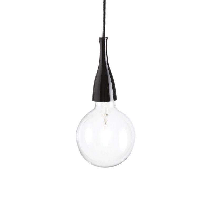 IdealLux-009407 - Minimal - Black Metal Single Hanging Pendant
