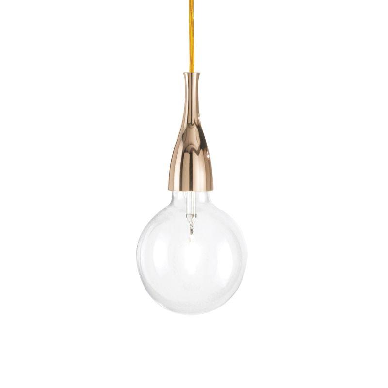 IdealLux-009391 - Minimal - Gold Metal Single Hanging Pendant